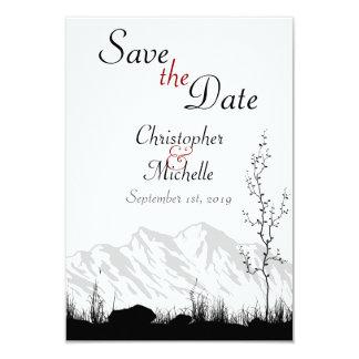 Silhouette Mountain Save the Date Wedding Invite