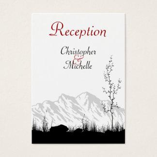 Silhouette Mountain Wedding Reception Cards