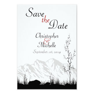 "Silhouette Mountain Wedding Save the Date 3.5"" X 5"" Invitation Card"