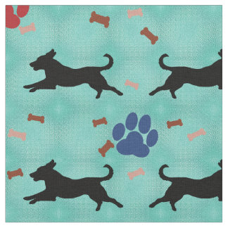Silhouette Mutts Fabric