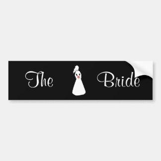 Silhouette nuptiale II la jeune mariée Autocollant De Voiture