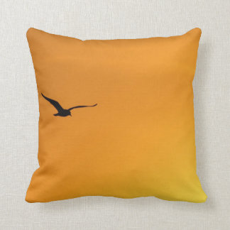 Silhouette of a Bird American Mojo Pillow/Cushion Throw Pillow