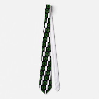 Silhouette of a meditating person tie