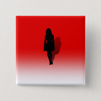 Silhouette of a Woman 2 Inch Square Button