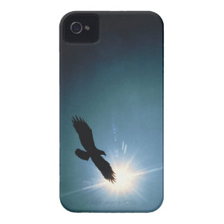 Silhouette of bald eagle flying in sky Case-Mate iPhone 4 case
