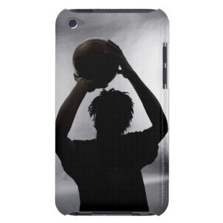 Silhouette of basketball player barely there iPod covers