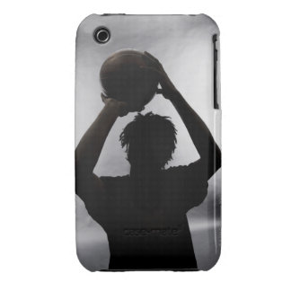 Silhouette of basketball player iPhone 3 case