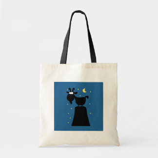 Silhouette of Goat on Mountain Tote Bag