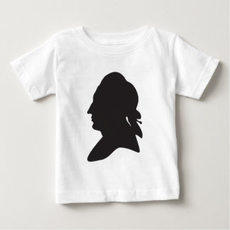 silhouette of Goethe Baby T-Shirt