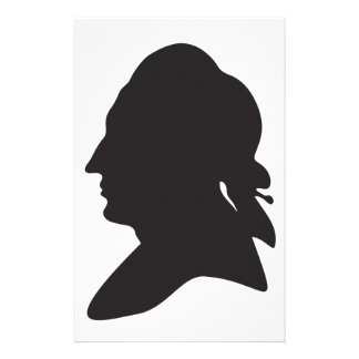 silhouette of Goethe Customized Stationery