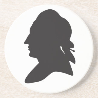 silhouette of Goethe Drink Coaster