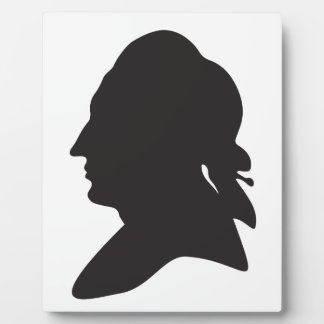 silhouette of Goethe Plaque