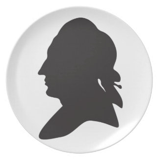 silhouette of Goethe Plate