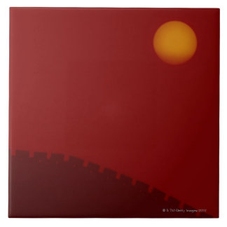 Silhouette of Great Wall of China Ceramic Tiles