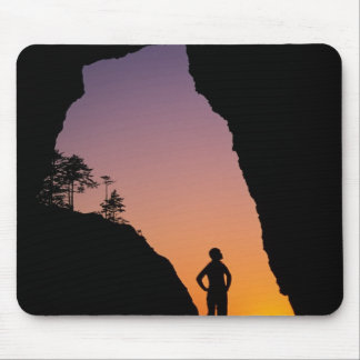 Silhouette of hiker, Point of the Arches, Mouse Pad
