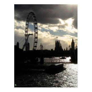 Silhouette of London Postcard