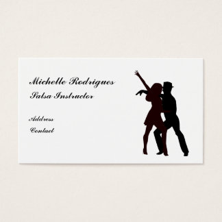 Silhouette of Salsa Dancers Business Card