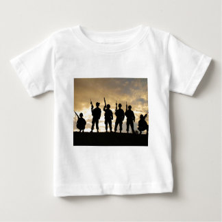 Silhouette of Soldiers in 101st Airborne Division Baby T-Shirt