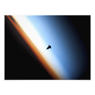 Silhouette of space shuttle Endeavour Photo Print