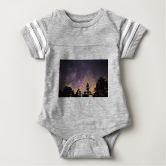 Silhouette of Trees at Night Baby Bodysuit