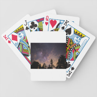 Silhouette of Trees at Night Bicycle Playing Cards