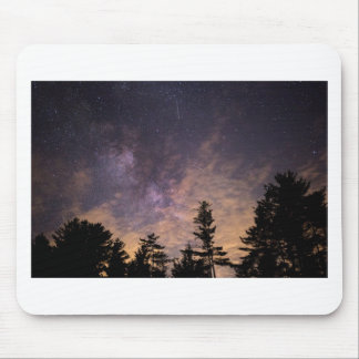 Silhouette of Trees at Night Mouse Pad