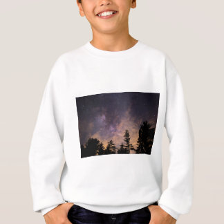 Silhouette of Trees at Night Sweatshirt