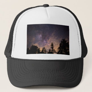 Silhouette of Trees at Night Trucker Hat
