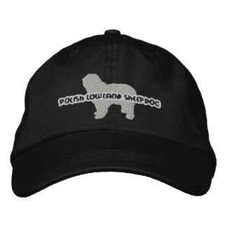 Silhouette Polish Lowland Sheepdog Embroidered Hat