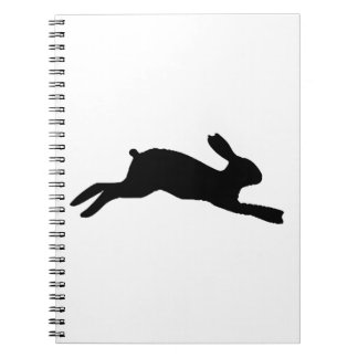 Silhouette Rabbit Notebook