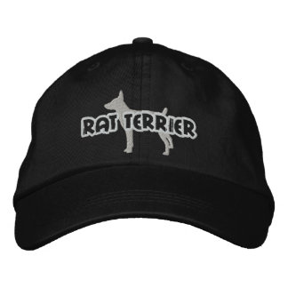 Silhouette Rat Terrier Embroidered Hat