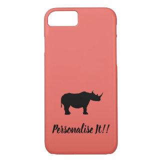 Silhouette Rhinoceros iPhone 8/7 Case