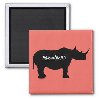 Silhouette Rhinoceros Magnet