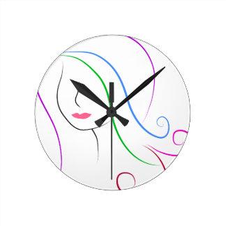 silhouette round clock