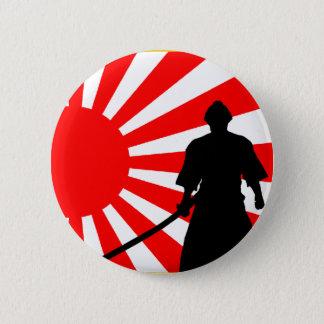 Silhouette Samurai 2 Inch Round Button