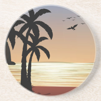 Silhouette scene of the beach coaster