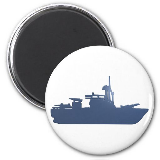 Silhouette ship ship magnet