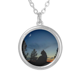 Silhouette Silver Plated Necklace