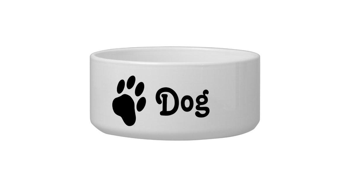 silhouette simple de patte de chien avec le chien bol pour chien zazzle. Black Bedroom Furniture Sets. Home Design Ideas