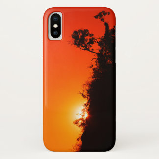 Silhouette Sunset iPhone X Case