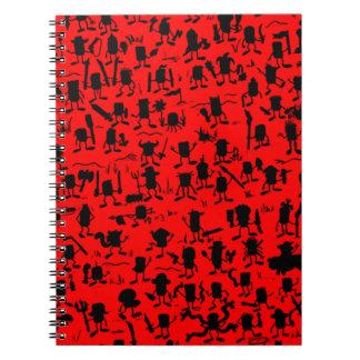 silhouette tee notebook