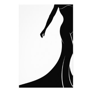 Silhouette Wedding Dress Bride Stationery