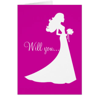 Silhouette Will You Be My Bridesmaid Card