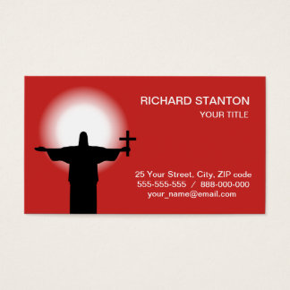 Silhouette with a cross business card