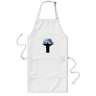 Silhouette with a cross long apron