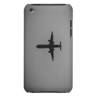 Silhouetted aircraft landing barely there iPod cover