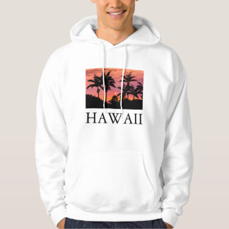Silhouetted palm trees, Hawaii Hoodie