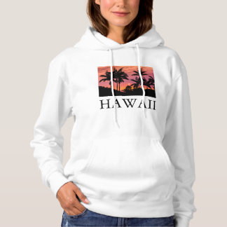 Silhouetted palm trees, Hawaii Hoodie