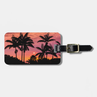 Silhouetted palm trees, Hawaii Luggage Tag