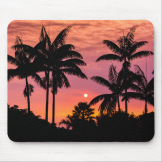 Silhouetted palm trees, Hawaii Mouse Pad